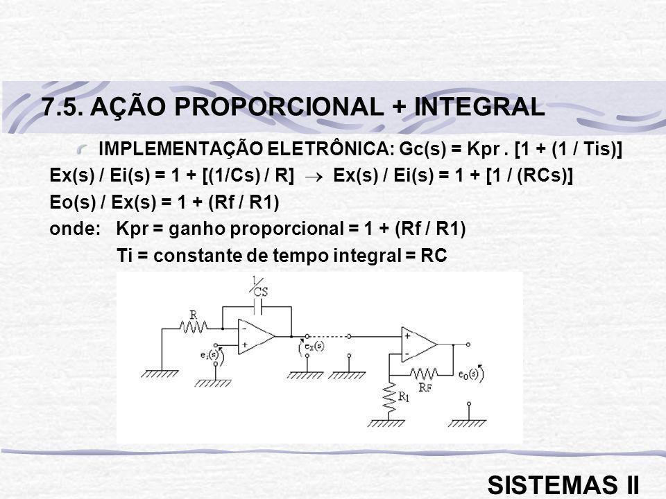 IMPLEMENTAÇÃO ELETRÔNICA: Gc(s) = Kpr . [1 + (1 / Tis)]